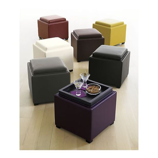 Stow Storage Ottomans from Crate & Barrel