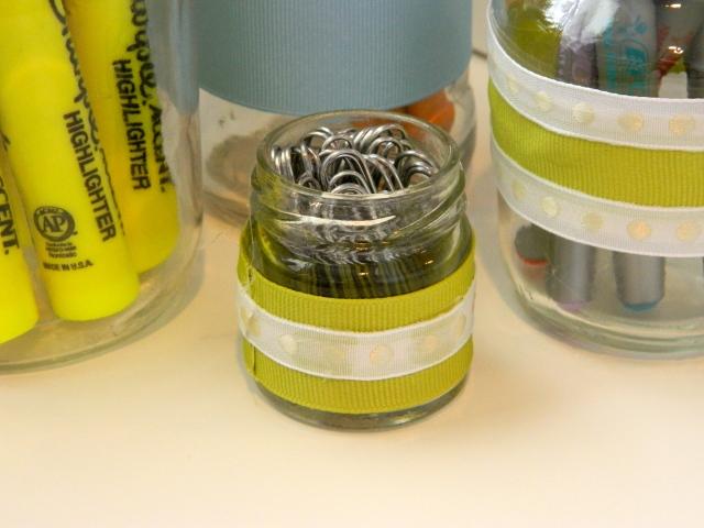 DIY Glass Jar Paper Clip Holder