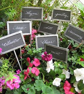 Chalkboard Garden Stakes - Lisa Holtzman Calligraphy