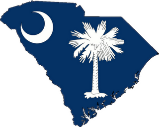 Flag Map of South Carolina