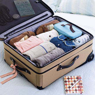 Organized Suitcase via Good Housekeeping
