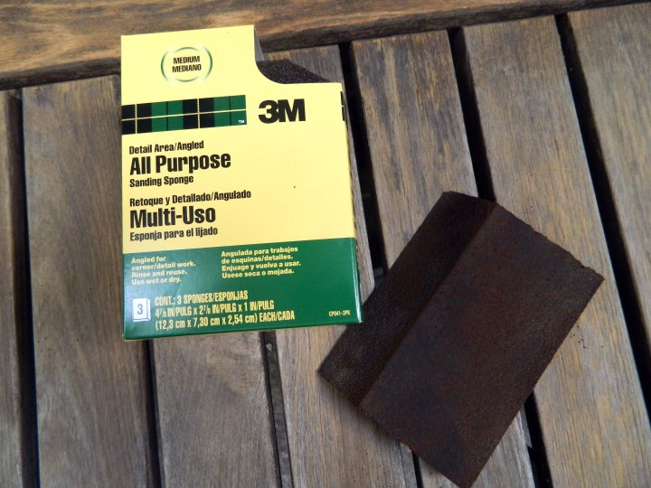 refinishing outdoor furniture sanding block