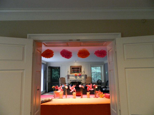 pink-orange-pinwheel-1st-birthday-party